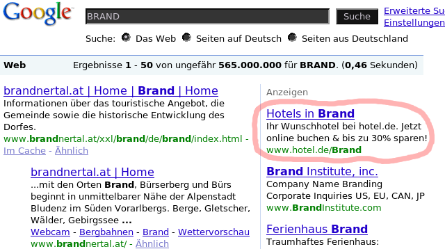 Hotels in Brand